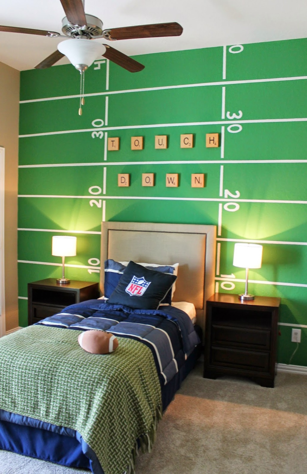 Totally Inspired Themed Kids Rooms Unique Childrens Bedrooms - Boys football bedroom ideas