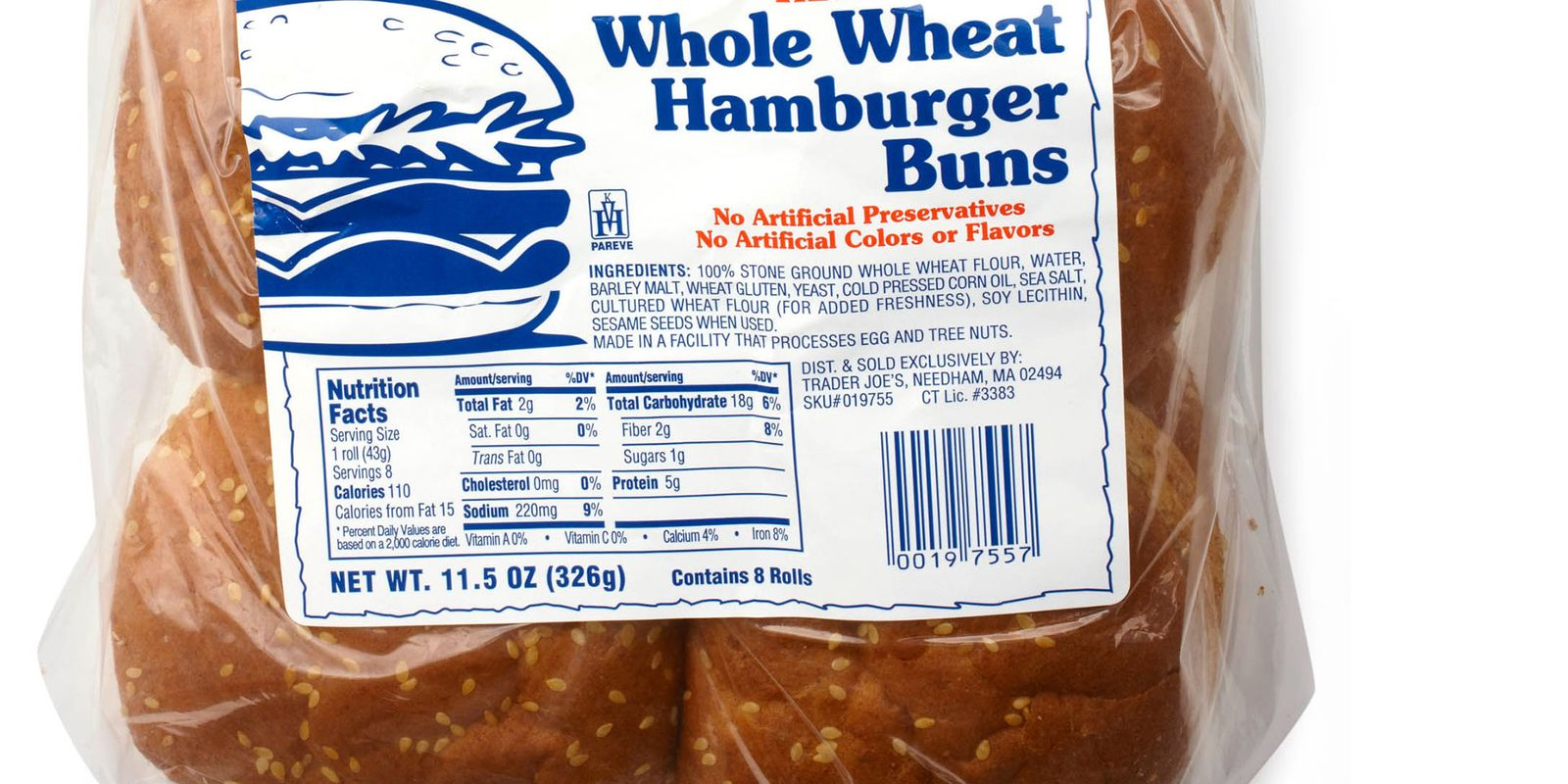 Trader Joe S Whole Wheat Hamburger Buns Review