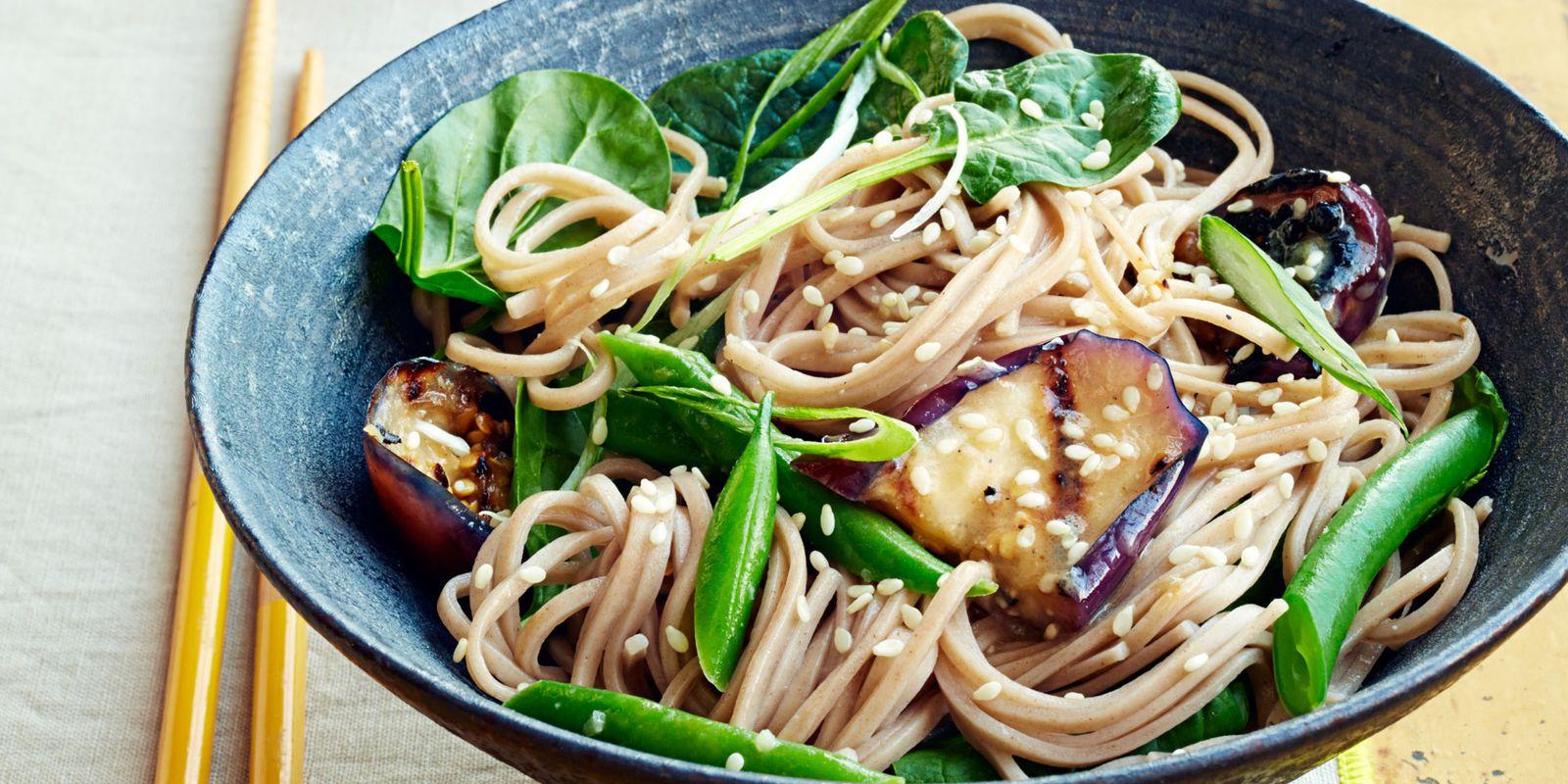 Soba with Miso-Glazed Eggplant Recipe