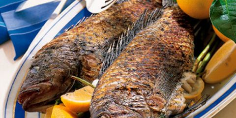 Mediterranean Grilled Sea Bass