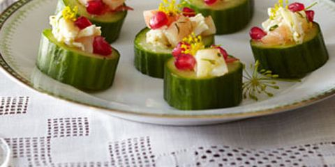 Seafood salad cucumber cups recipe forumfinder Images