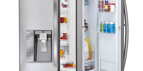 Amana 36 Inch Wide French Door Bottom Freezer Refrigerator