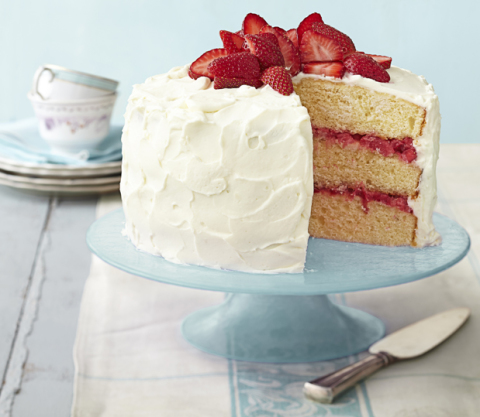 Good Housekeeping Strawberry Rhubarb Layer Cake