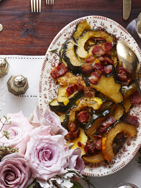 how to cook acorn squash on the stove