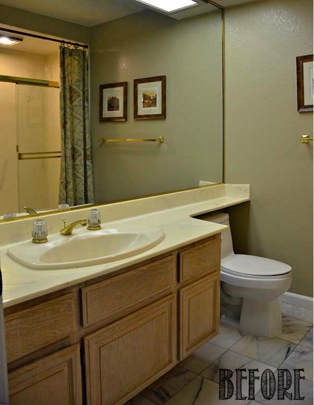 Bathroom Makeover Mistakes marble bathroom makeover - shabby chic bathroom