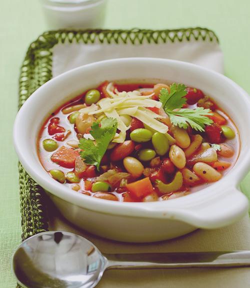 Three-Bean Vegetable Chili