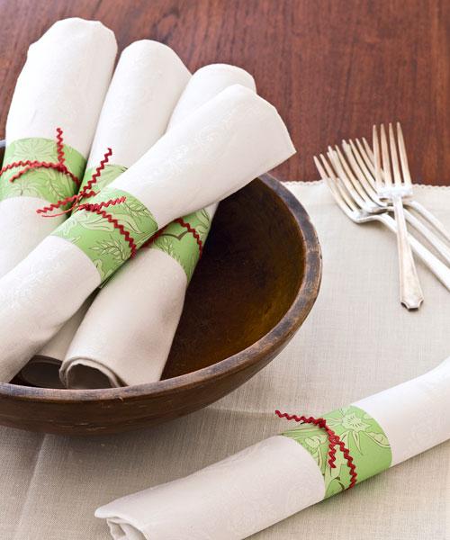 Homemade Holiday Napkin Rings Christmas