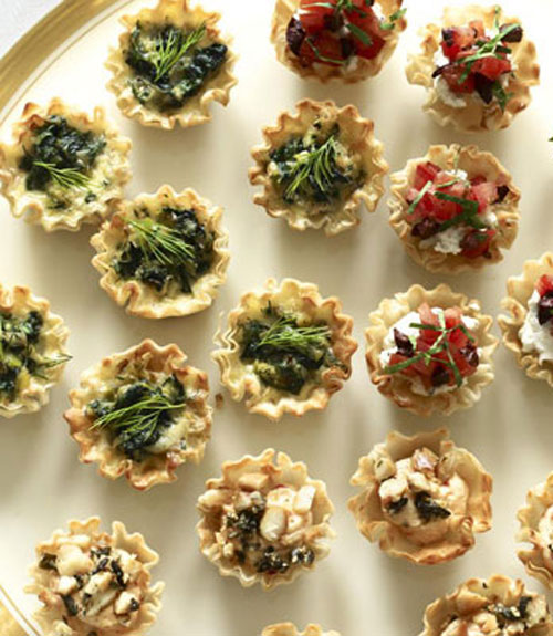 Ricotta and roasted pepper tartlets recipe for How to make canape shells at home