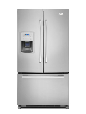 Whirlpool Gold ENERGY STAR Qualified 25 cu. ft. French-Door Bottom ...