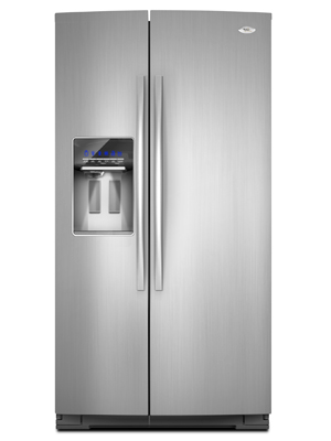 whirlpool refrigerator side by side. whirlpool gold 26 cu ft resource saver side by refrigerator gss26c4xx700 -