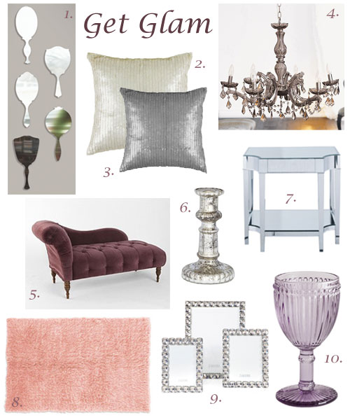glamorous home decor ideas - tips for glamorous home decorating