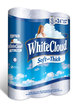 White Cloud Soft And Thick Toilet Paper