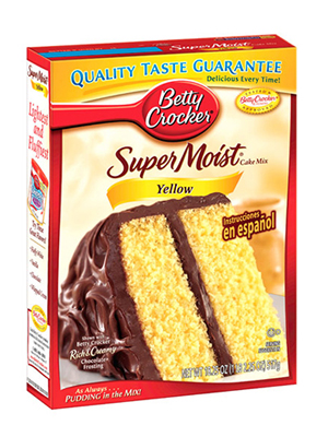 Duncan Hines Yellow Cake Mix Calories