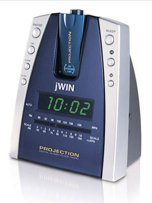jwin projection alarm clock jl 707 alarm clock. Black Bedroom Furniture Sets. Home Design Ideas