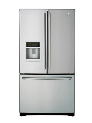 LG 3 Door French Door Refrigerator with Ice and Water Dispenser