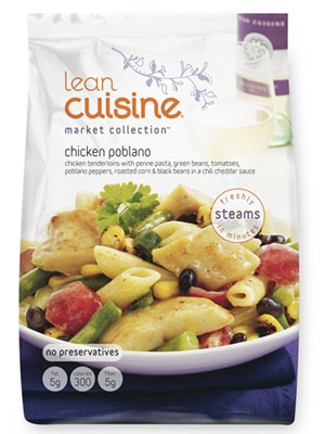 Lean cuisine market collection chicken poblano review for Average price of lean cuisine