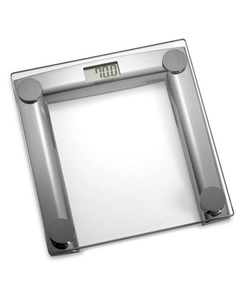 thinner glass and chrome digital scale