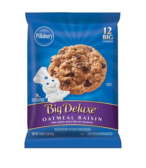 Pillsbury Big Deluxe Oatmeal Raisin Cookie Dough