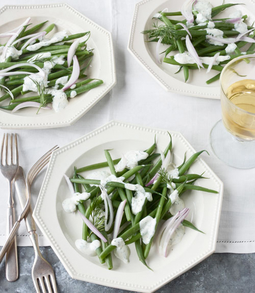 Haricots Verts with Green Goddess Dressing
