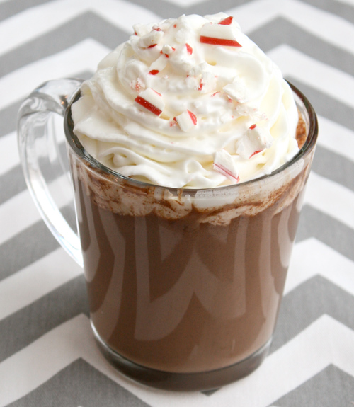 Slow Cooker Peppermint Bark Hot Chocolate Recipe