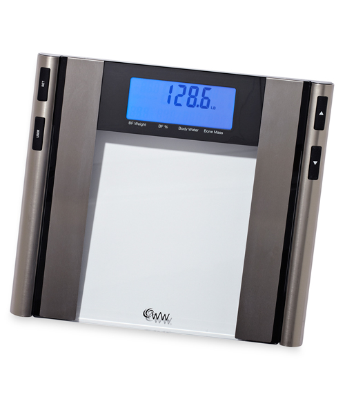 Weight Watchers by Conair Glass & Satin Nickel Body Analysis Scale ...