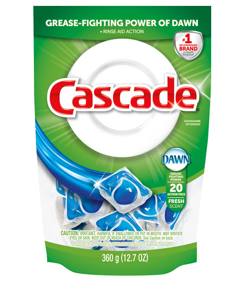 Cascade Dishwasher Detergent With The Grease Fighting