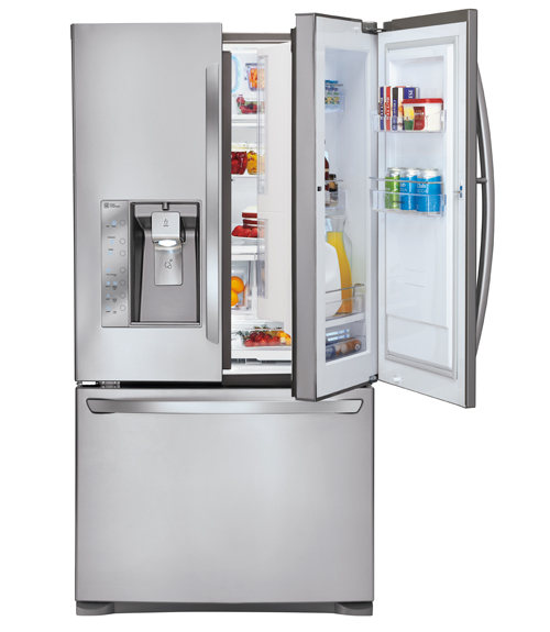 lg super capacity door in door refrigerator