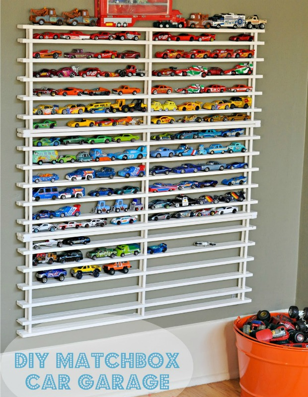Toy Car Rack : Matchbox car shelf system diy toy organizing ideas