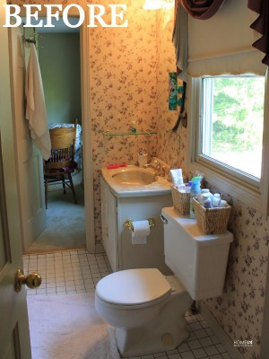 Bathroom Makeovers For Less bathroom before-and-after - budget bathroom makeover