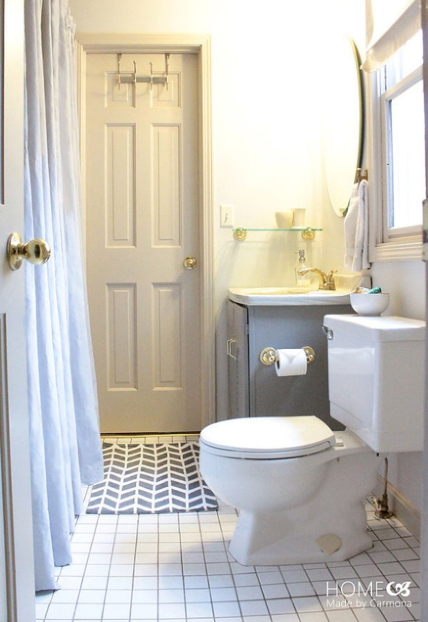 A Fresh Bathroom Makeover For Less Than $100