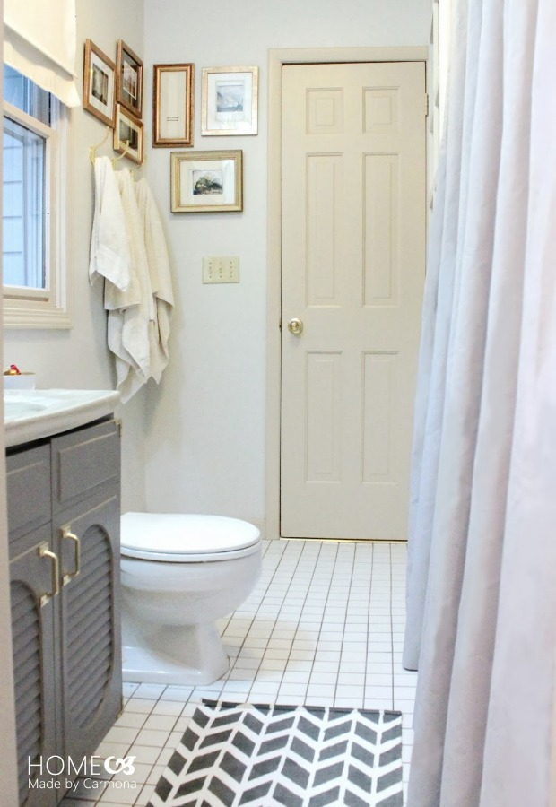 Economical Bathroom Makeovers bathroom before-and-after - budget bathroom makeover