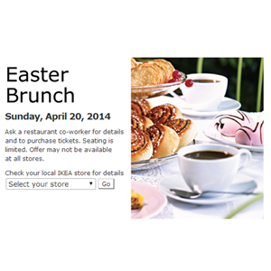 Easter deals discounts on easter gifts ikea easter brunch negle Images