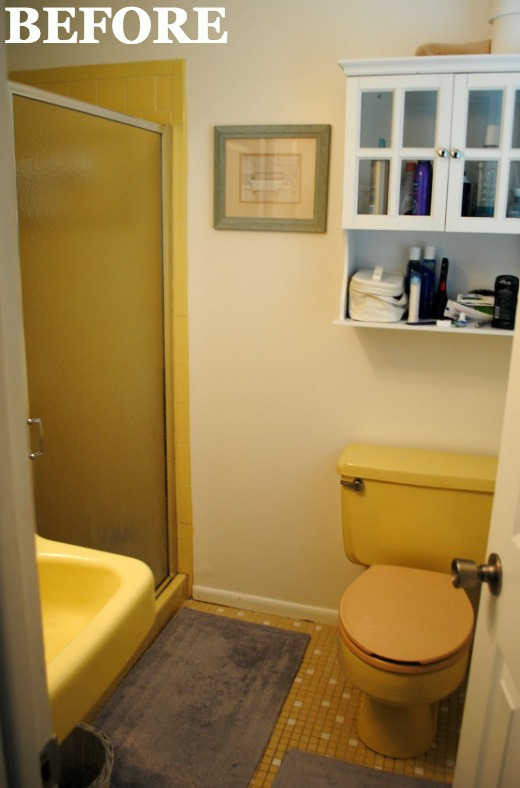 Yellow Bathroom Makeover on decorating tips and ideas for the bedroom