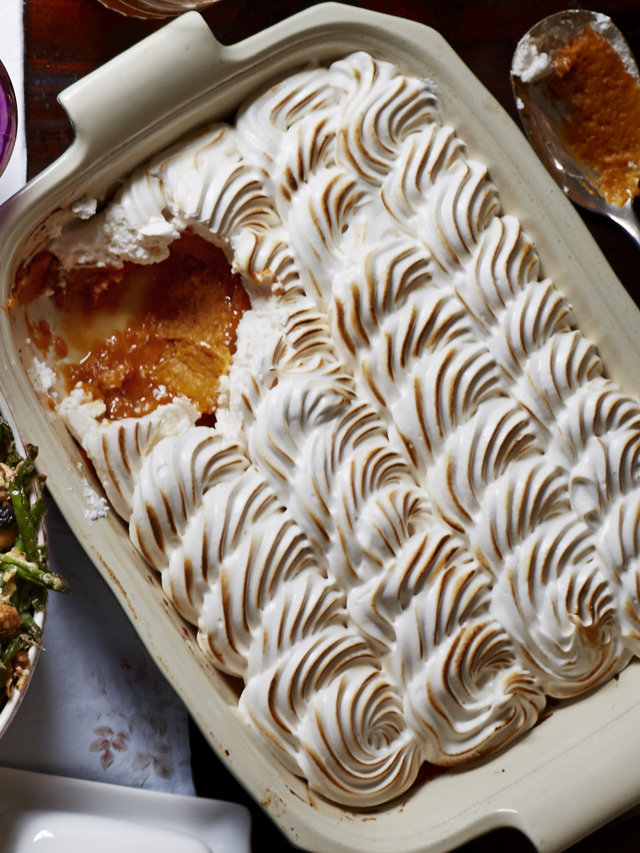 maple meringue sweet potato casserole
