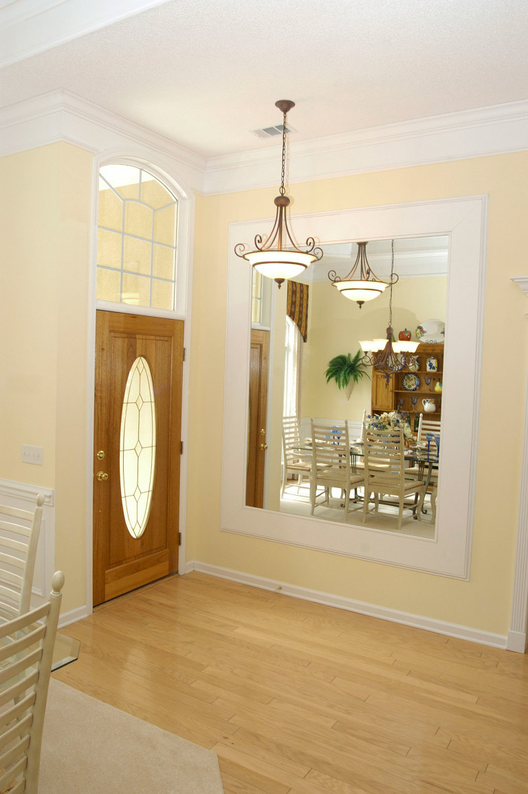 foyer with large mirror. What to Do with a Blank Wall   Decorate a Blank Wall