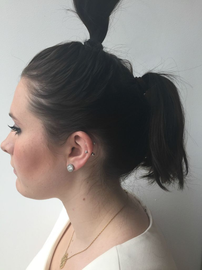 double ponytail trick - how to make your hair look longer than it is