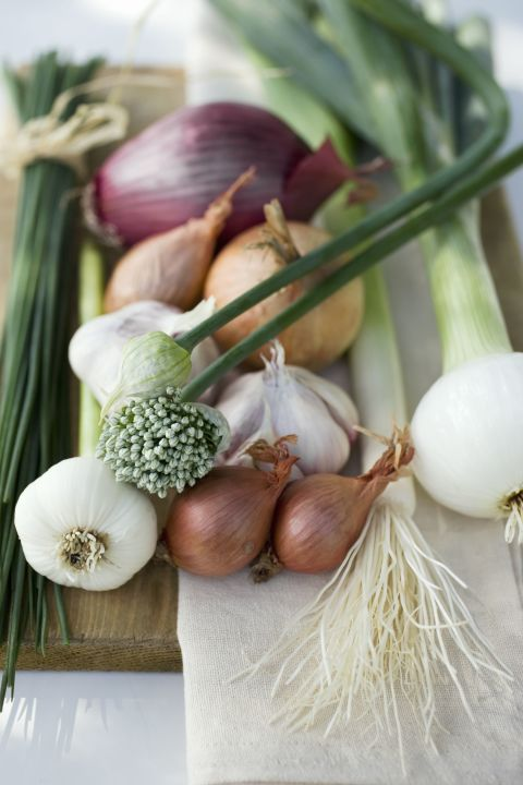 You already know that garlic, onion, leeks, scallions and shallots add lots of flavor, but they also provide tons of prebiotic fiber. Sneak them into savory dishes, like omelets and salads.