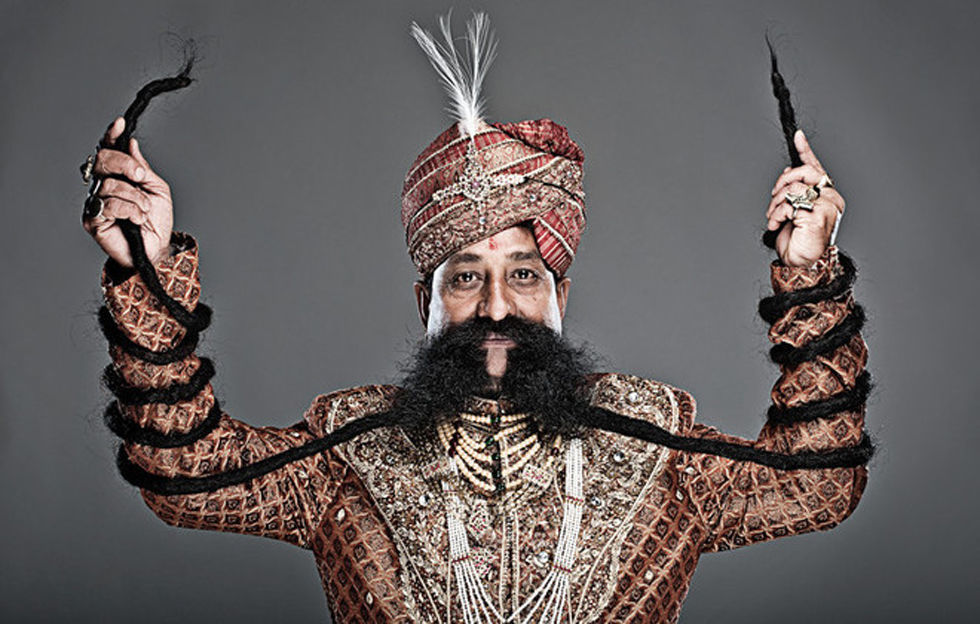 Ram Singh Chauhan moustache Guinness World Records