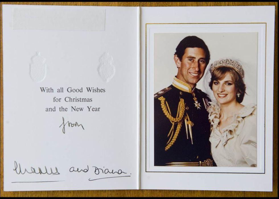 Prince Charles And Princess Diana Wedding Photo Christmas Card 1981