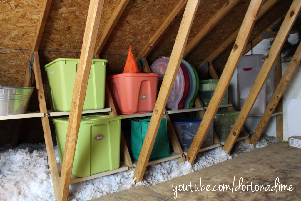 small attic storage ideas - Unfinished Attic Storage Ideas How to Add Storage to an