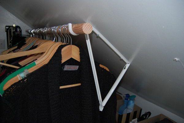 Tremendous Closet Rod Bracket For Sloped Ceiling Roselawnlutheran