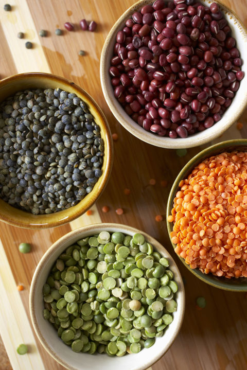 Pulses — the dry edible seeds of beans, lentils, chickpeas and peas — are everywhere these days, and we couldn't be happier about it. They're filled with fiber and plant-based protein, plus minerals and B-vitamins. Overall, pulses reduce bloat by aiding your nervous and muscular systems, helping you build lean body mass.