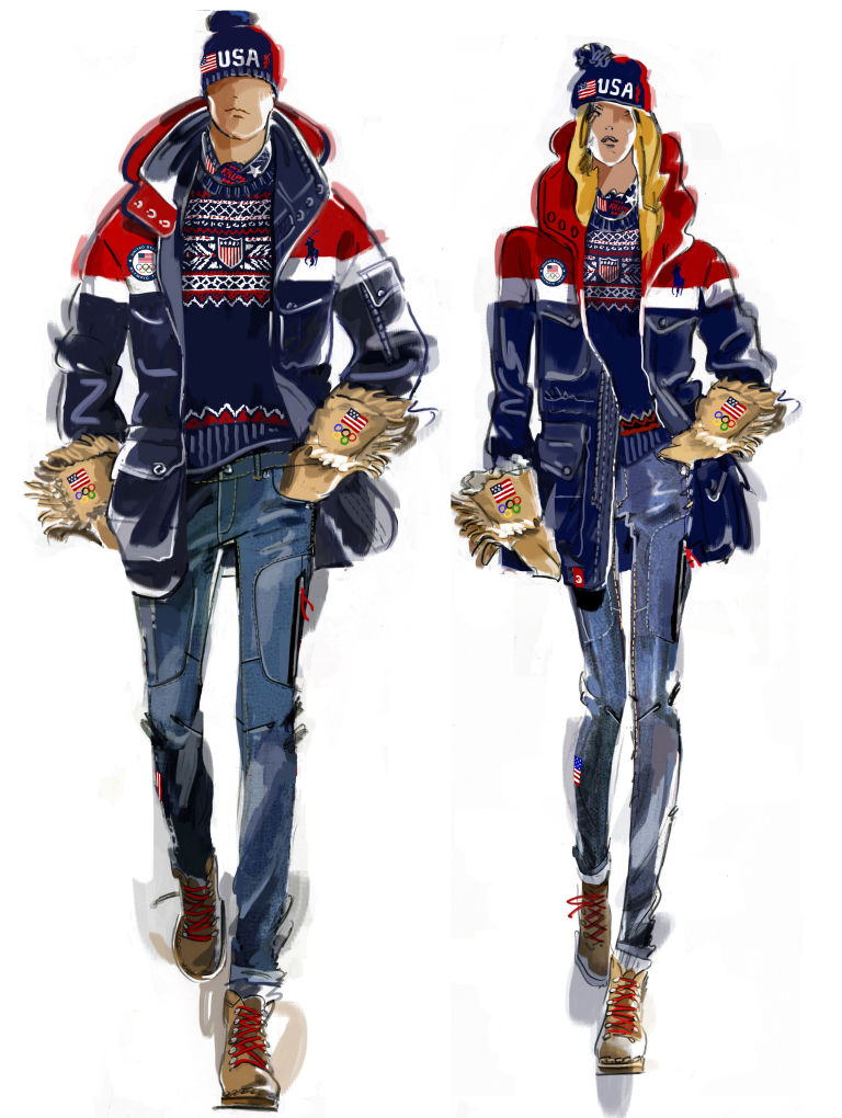 Image result for ralph lauren 2018 olympic fashion