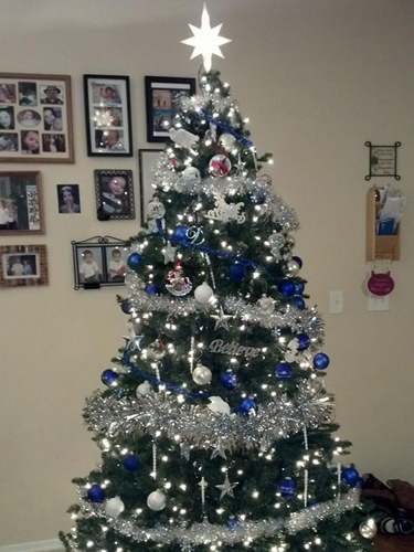 beautiful christmas trees pictures ideas good housekeeping - Blue And Silver Christmas Tree