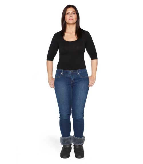 wide hips attractive jeans