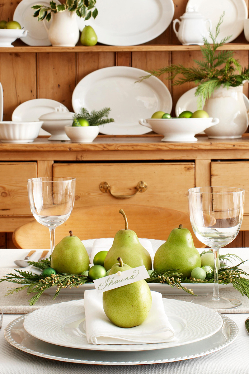 Green christmas table decorations diepedia